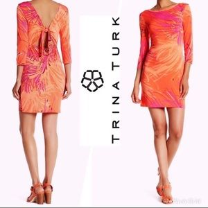 NWT Trina Turk Keyhole Front To Back Jersey Dress